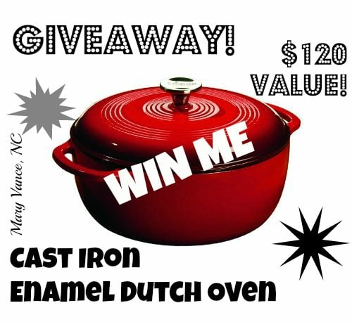 GIVEAWAY! Enter to Win This Cast Iron Enamel Dutch Oven!