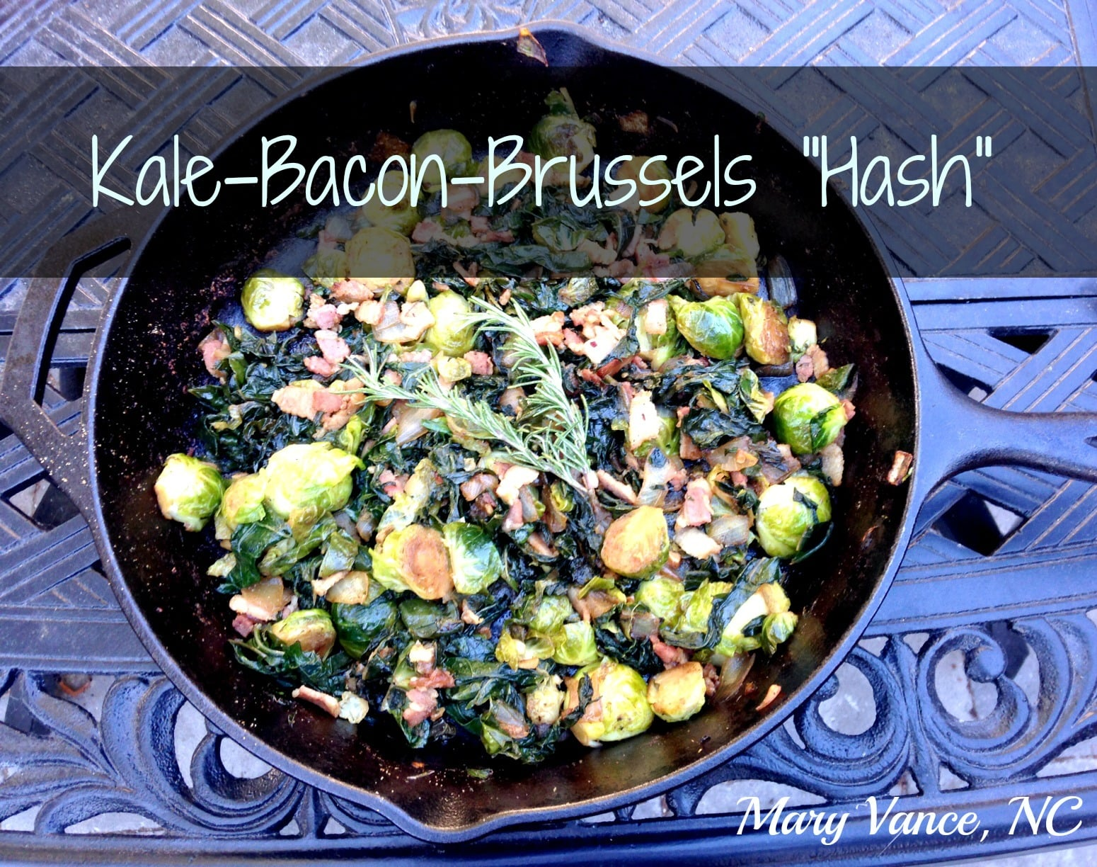 "Kale-Bacon-Brussels ""Hash"" (Autoimmune Friendly)"