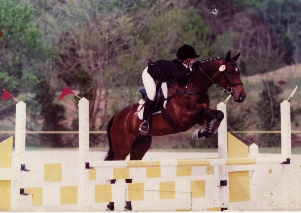 Me competing with Timer, my main squeeze, in 1992.
