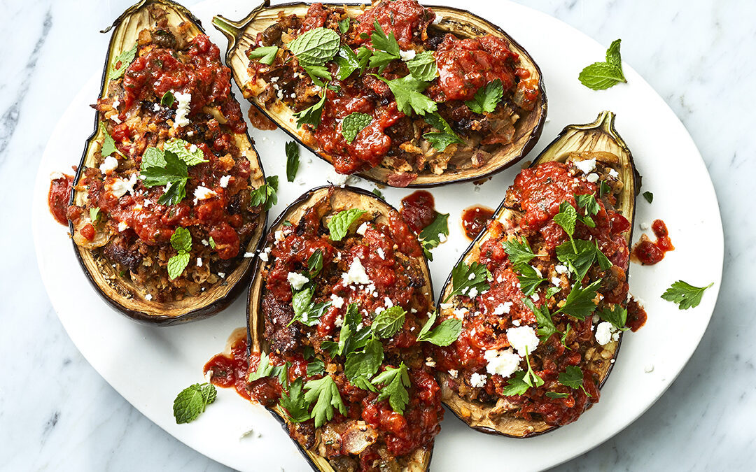 Low Carb Paleo Stuffed Eggplant