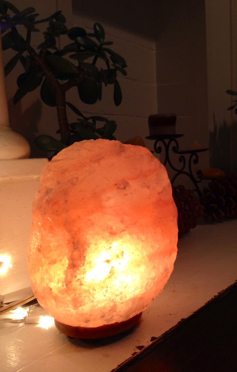 Salt Lamp Near Plants : Unusual Items You ll Find around This Holistic Nutritionist s House - Mary Vance, NC