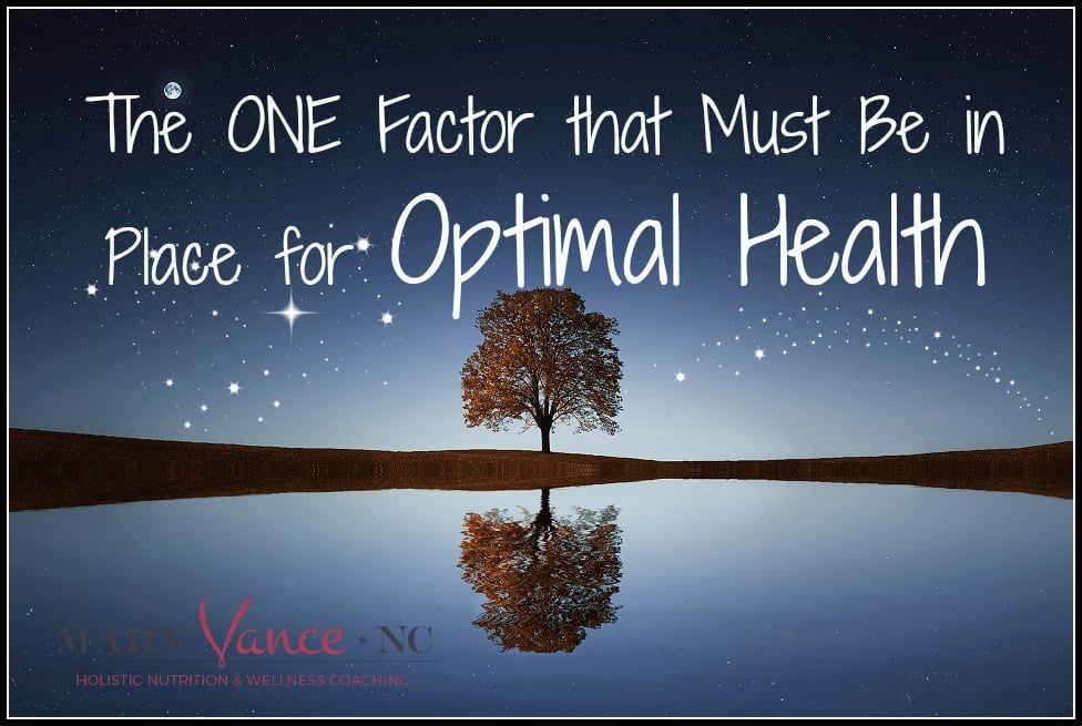 The One Factor You Must Have for Optimal Health