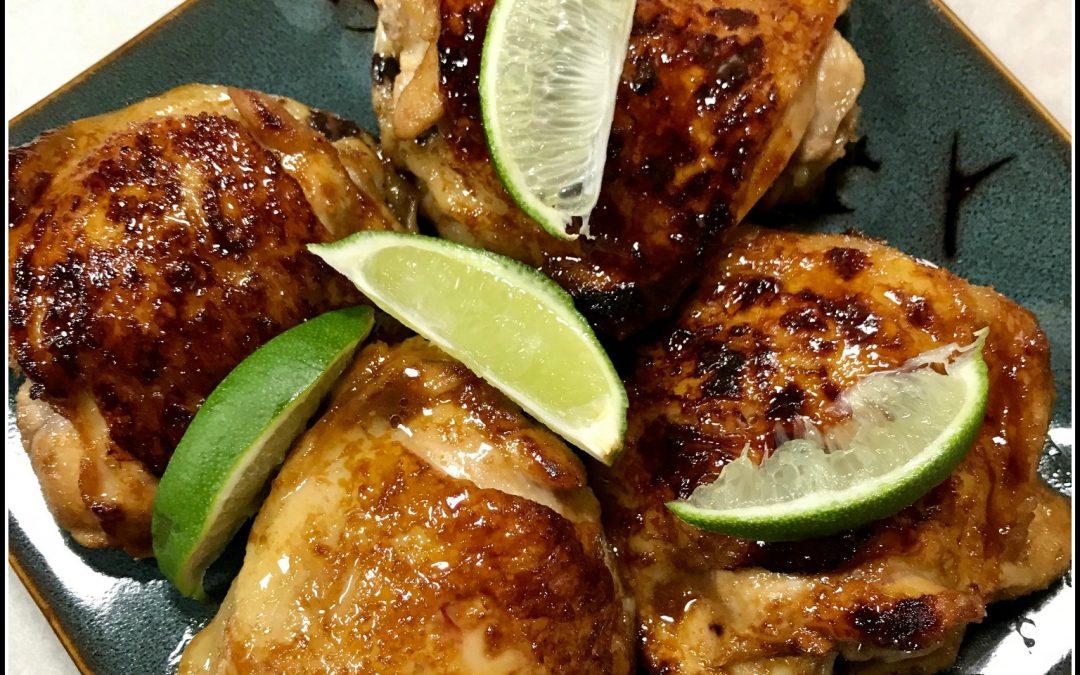 EASY Recipe: Honey-Lime Glazed Chicken Thighs (Paleo)