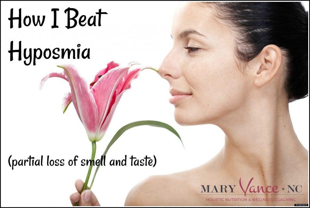 hyposmia, anosmia